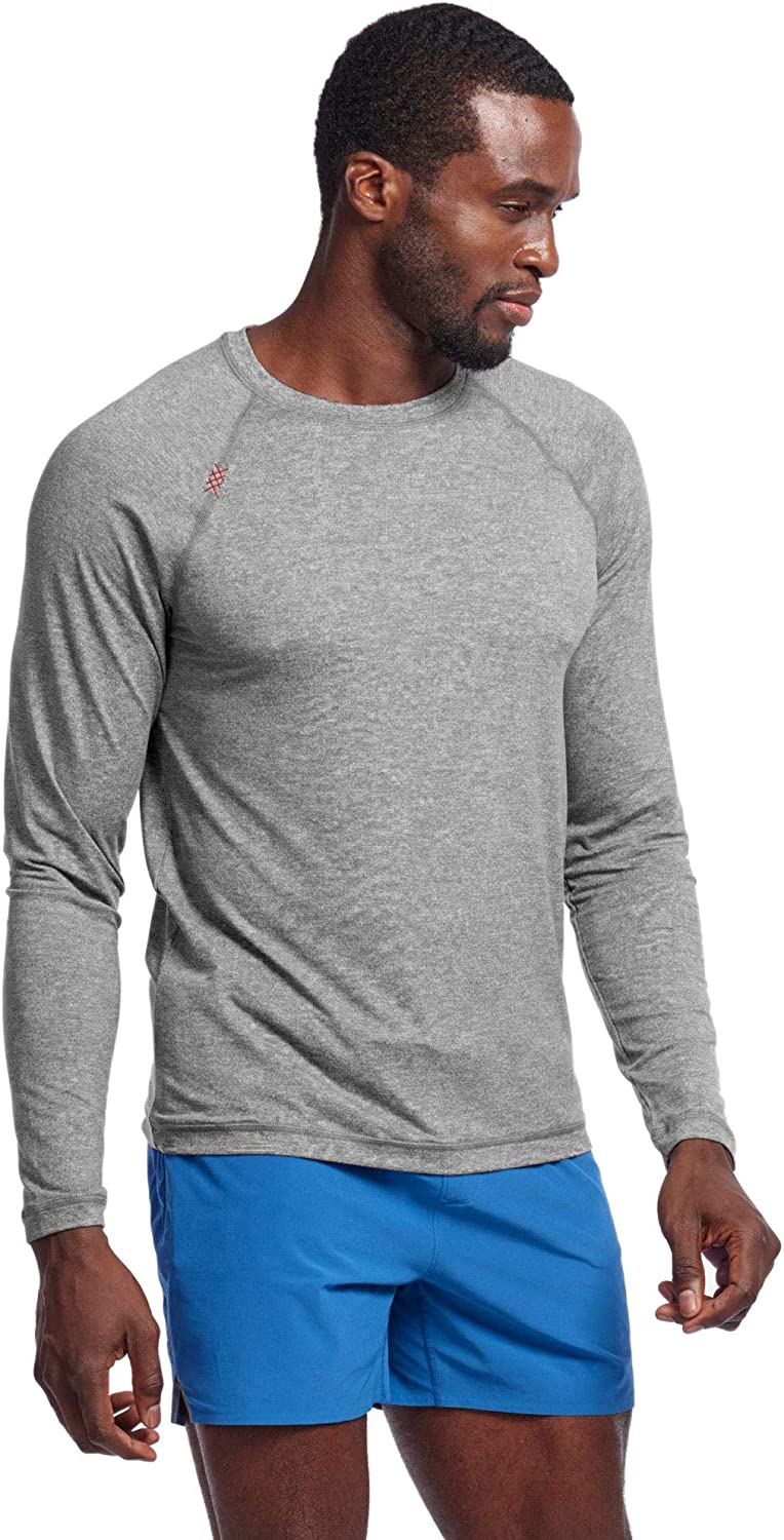 Rhone Men's Reign Long Sleeve Athletic Moisture Wicking Anti-Odor Workout Shirt