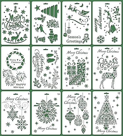 Amazon Com Magicmai Christmas Stencils Bullet Journal Stencil