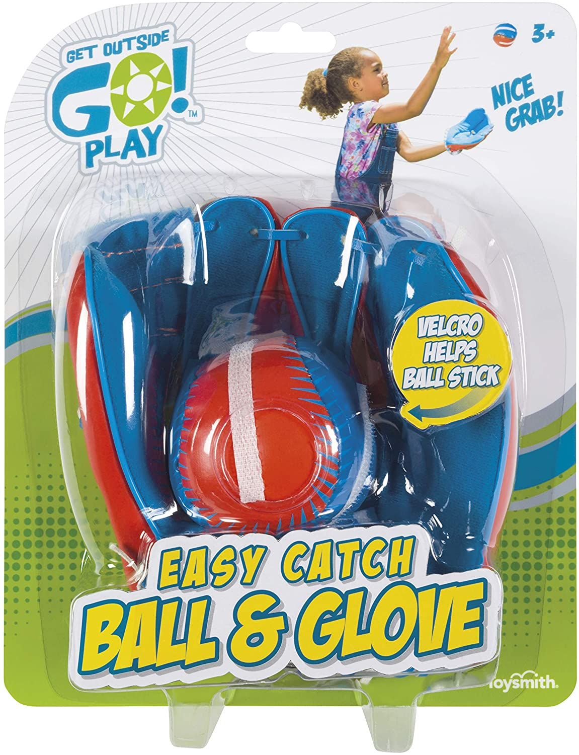 Get Outside Go! Easy Catch Ball & Glove Set Super Sport Outdoor Active Play Baseball by Toysmith (Packaging May Vary): Toys & Games