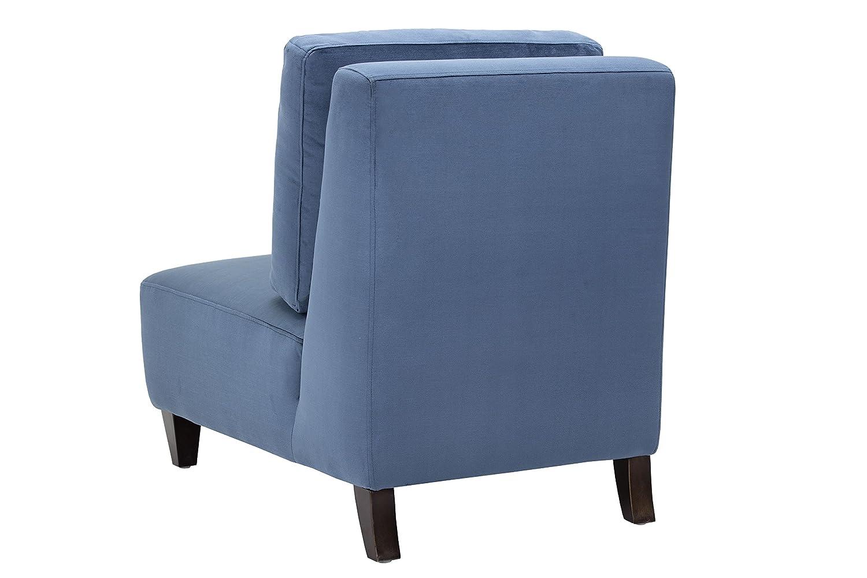 Ink Blue Fabric Sunpan Modern Evelyn Chair