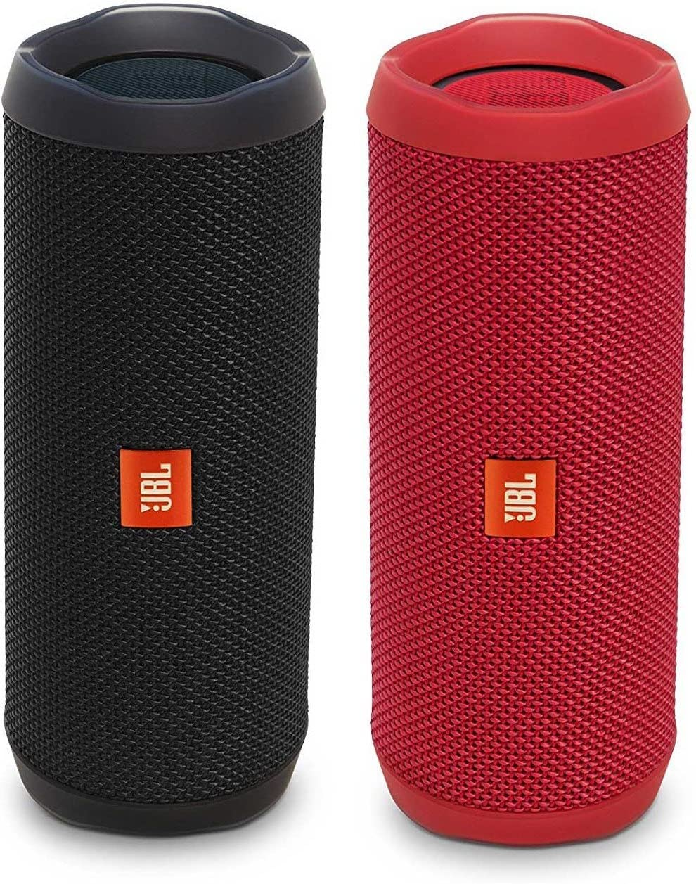 JBL Flip 4 Waterproof Bluetooth Speaker Party Pack Black Red