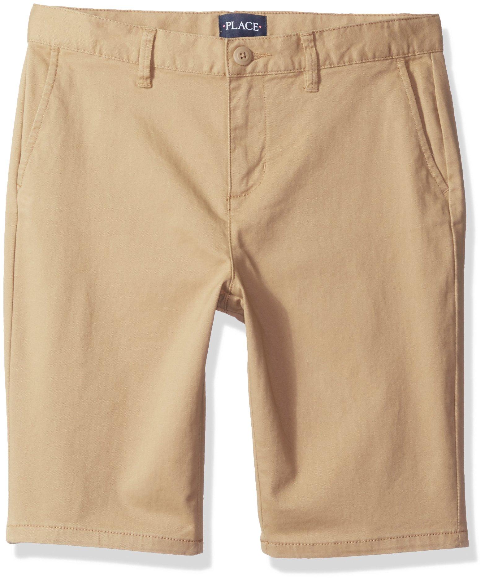 The Children's Place Girls Size Uniform Shorts, Sesame 9011, 6 Slim