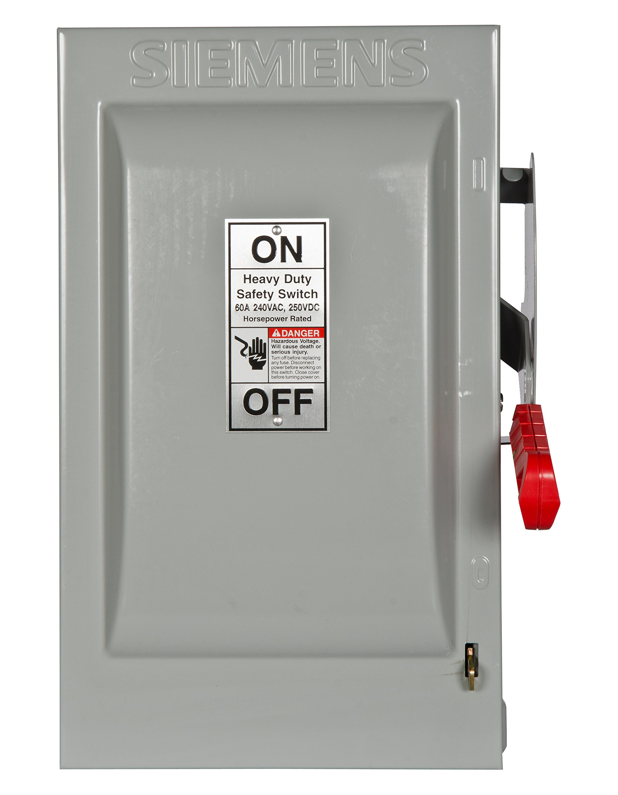 Siemens HF222N 60-Amp 2 Pole 240-volt 3 Wire Fused Heavy Duty Safety Switches