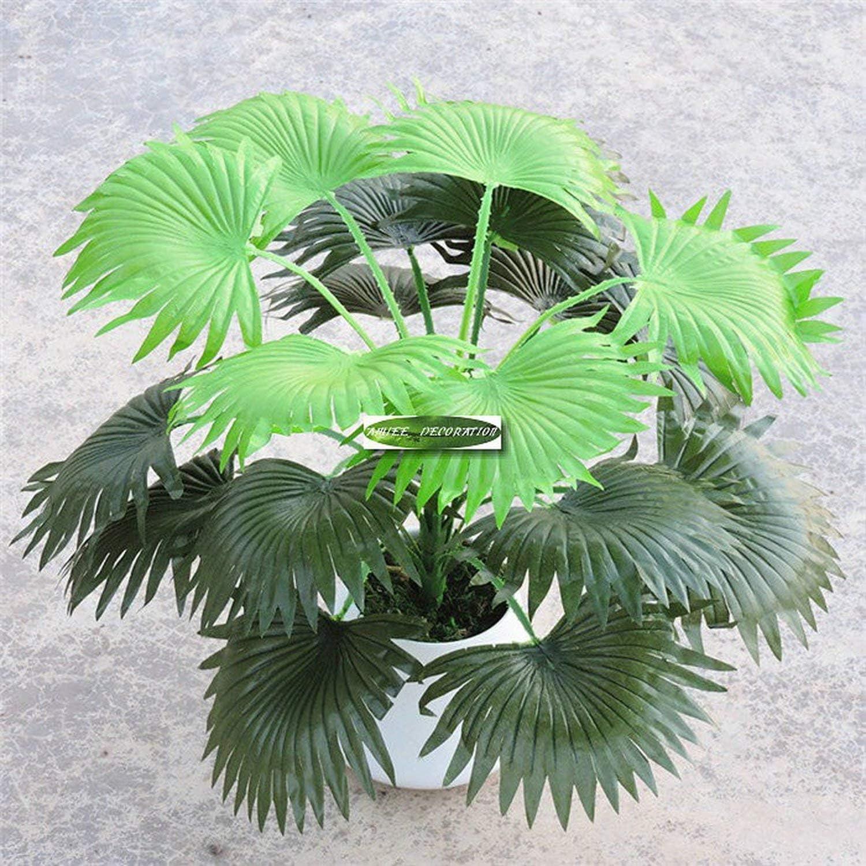 50cm 18 Leaf Artificial Coconut Fan Palm Plant Tree Wedding Home Church Florist Furniture Decor no Vase Fake Foliage Green F36