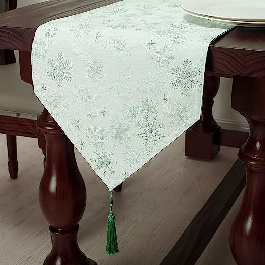 Home, Furniture & DIY Snowflake White Silver Table Cloths ...