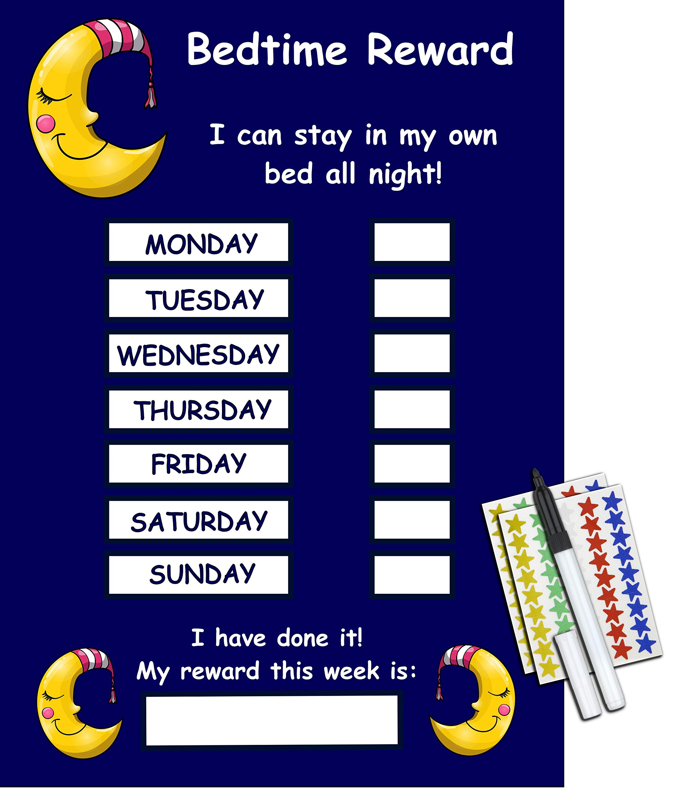 Kids2learn Bedtime Reward Chart Stay In Bed All Night Children S Reusable Sticker Chart Buy Online In Bahrain Kids2learn Products In Bahrain See Prices Reviews And Free Delivery Over Bd 25 000 Desertcart