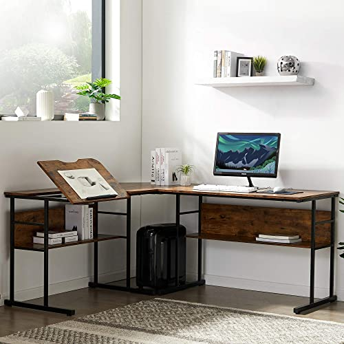 Home Office L-Shaped Desk
