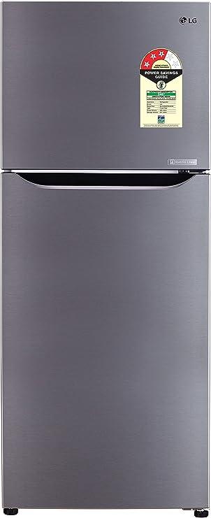 LG 260 L 3 Star Frost Free Double Door Refrigerator GL C292SPZU.DPZZEBN, Shiny Steel, Inverter Compressor  Refrigerators
