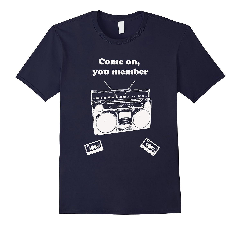 Novelty Funny T Shirt Boom Box Old School Member-TD