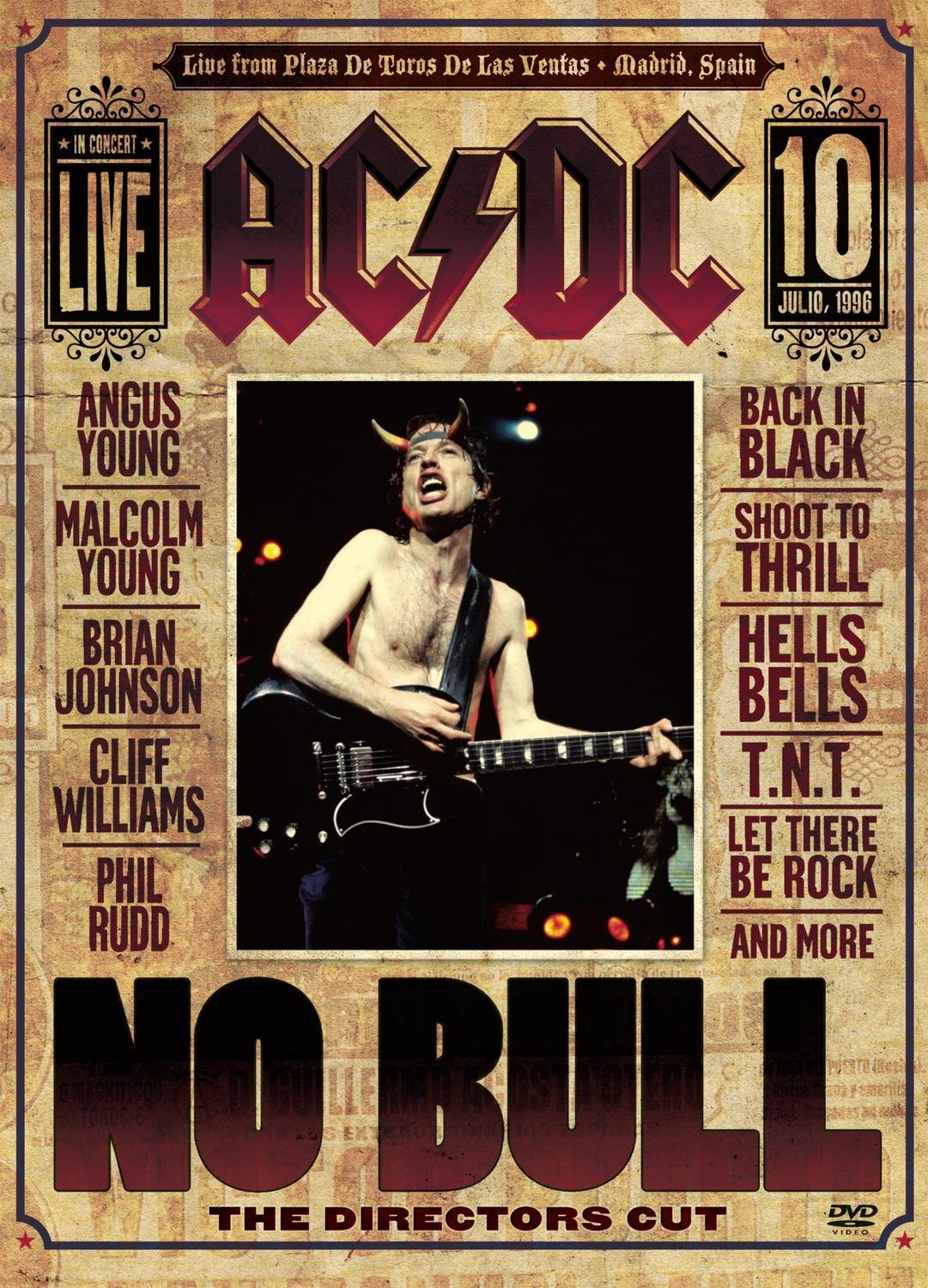 DVD : AC/DC - No Bull (The Director's Cut) (Digipack Packaging)