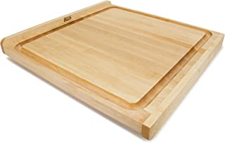 product image for John Boos Block KNEB24S Maple Wood Countertop Reversible Edge Grain Cutting Board with Gravy Groove, 23.75 Inches x 23.75 Inches x 1.25 Inches
