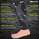 Blitzu Calf Compression Sleeve One Pair Leg