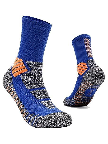 RUXIYI Calcetines de baloncesto para hombre Calcetines deportivos, Calcetines para correr, Transpirable, Duradero, Adecuado para baloncesto, fútbol, ...