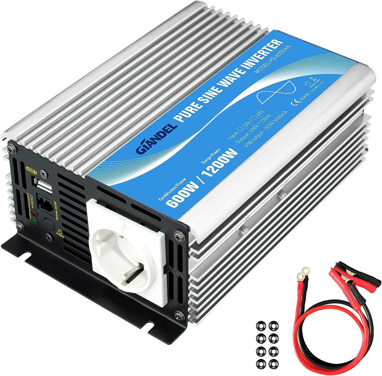 600w Wechselrichter Reiner Sinus Spannungswandler 12v Elektronik