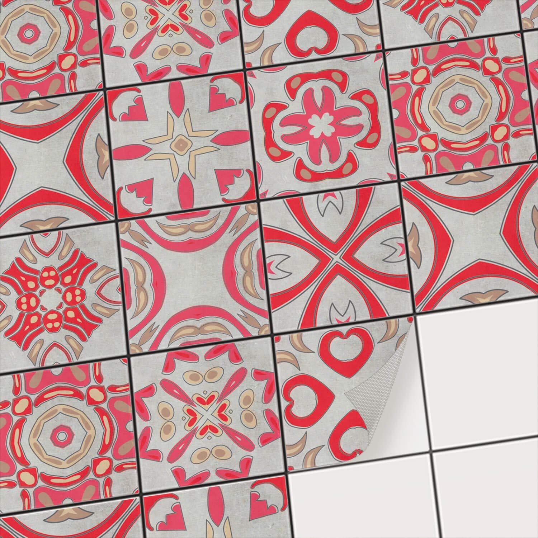 Fliesen-Mosaik Aufkleber - Fliesenaufkleber Fliesenaufkleber Fliesenaufkleber I Klebefolie zum Fliesen überkleben - Sticker-Fliesen I Renovieren u. Dekorieren von Küchen und Bad-Fliesen I 20x20 cm - Motiv Mosaik Afrika - 27 Stück B073WGHKTV Wandtattoos & Wandbilder 4f40a3