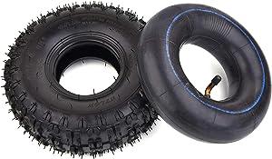 4.10-4 410-4 4.10/3.50-4 Inner Tube + Tire for Garden Rototiller Snow Blower Mowers Hand Truck Wheelbarrow Go Cart Kid ATV
