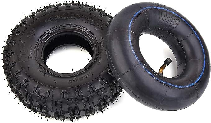 RuTu 4.10-4 410-4 4.10/3.50-4 Tubo Interior + neumático para soplador de Nieve de jardín, cortacésped de Mano, camión, Carretilla, Carrito, Todoterreno para niños