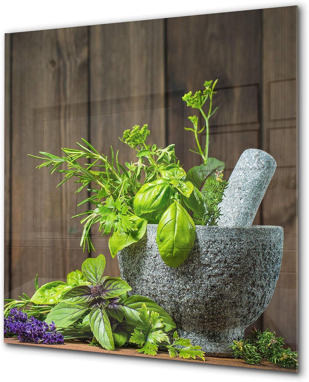 Elégant antiprojections verre sécurité - Antiprojections cuisine verre - Fond de paroi BS01 Série herbes: Herbes et Épices 7