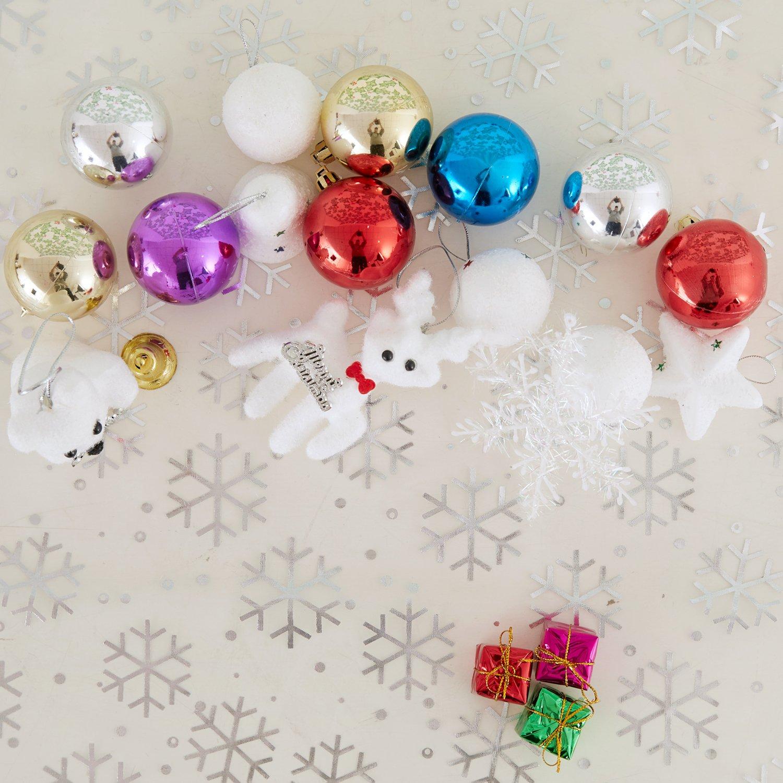 Deconovo Weihnachtsdeko Stern Sternenhimmel Organza Tull 300x150 Cm