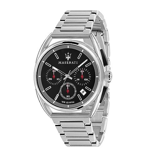 MASERATI Reloj Cronógrafo para Hombre de Cuarzo con Correa en Acero Inoxidable R8873632003: Amazon.es: Relojes
