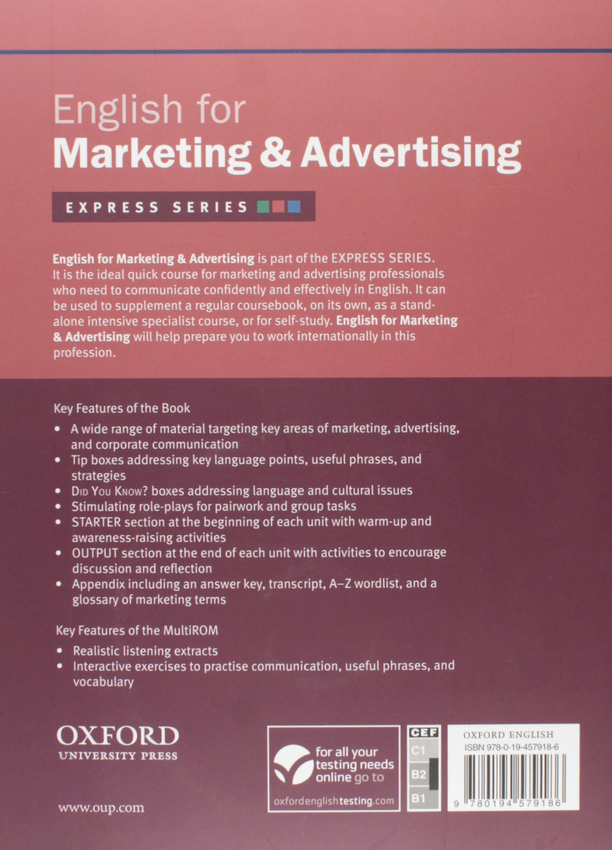 amazon express series english for marketing and advertising