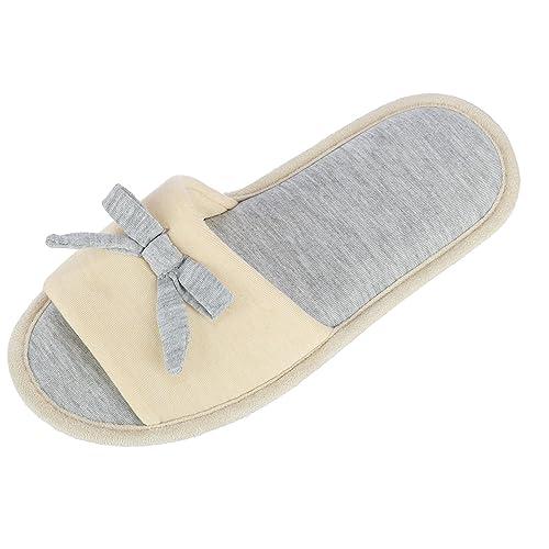 Hanes Zapatillas Diapositivas con Lazo para Mujer: Amazon.es: Zapatos y complementos