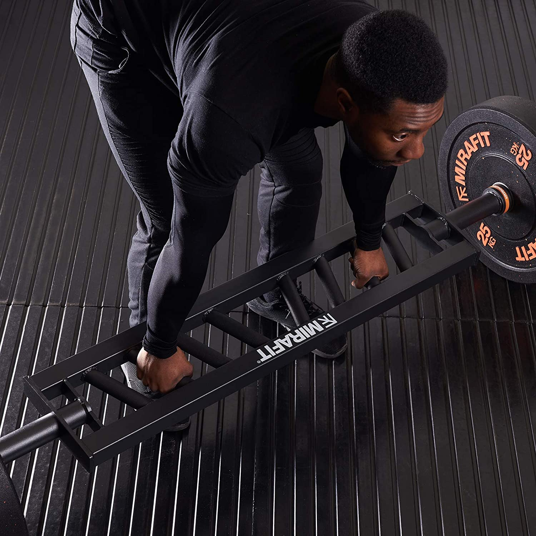 in Schwarz MiraFit Winkelgriff zum Gewichtheben f/ür Olympia-Gewichtsscheiben und Swiss-Weightlifting