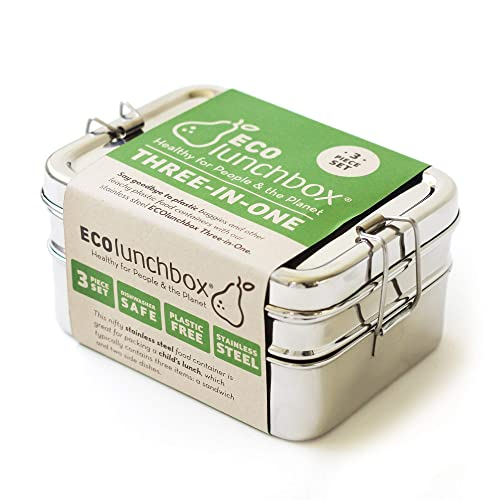 ECOlunchbox Three-in-One Stainless Food Canister and Lunch Box