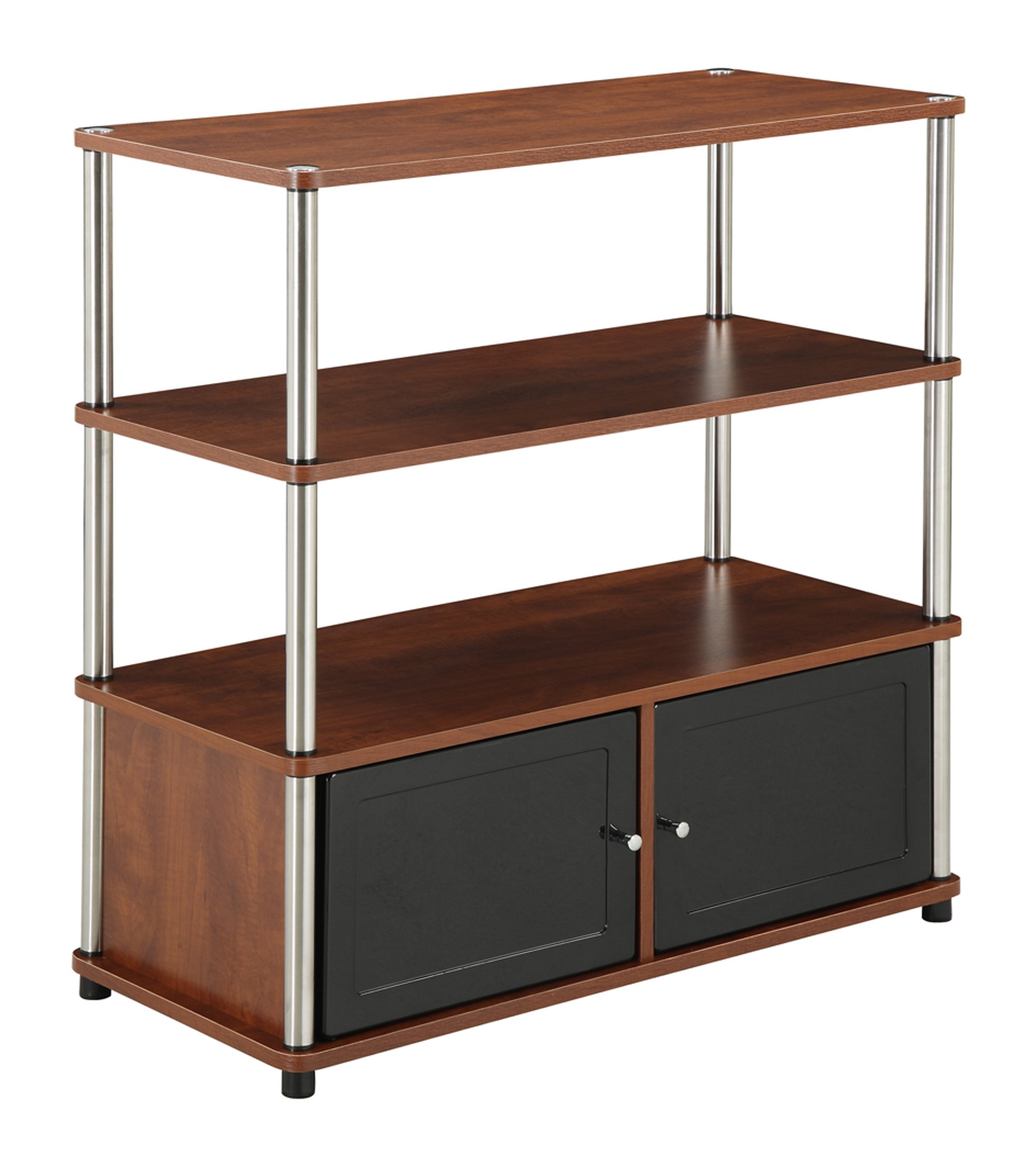 Convenience Concepts Highboy Stand for Flat Panel TV's Up to 37-Inch, Cherry