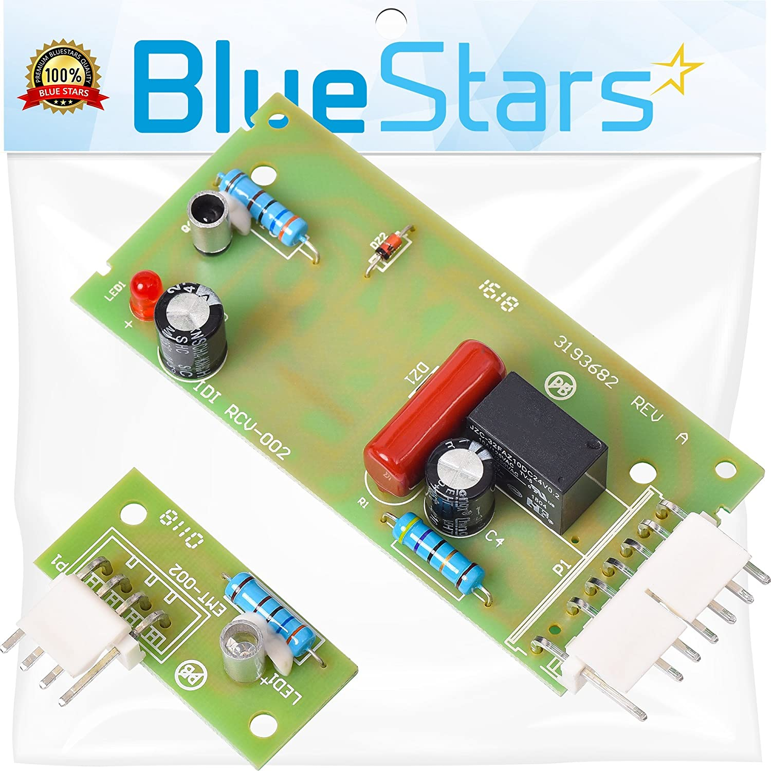 Ultra Durable 4389102 Control Board Kit Replacement by Blue Stars – Exact Fit For Whirlpool Refrigerators – Replaces 3193682 2255114 2198586 W10757851 AP5956767 W10193666