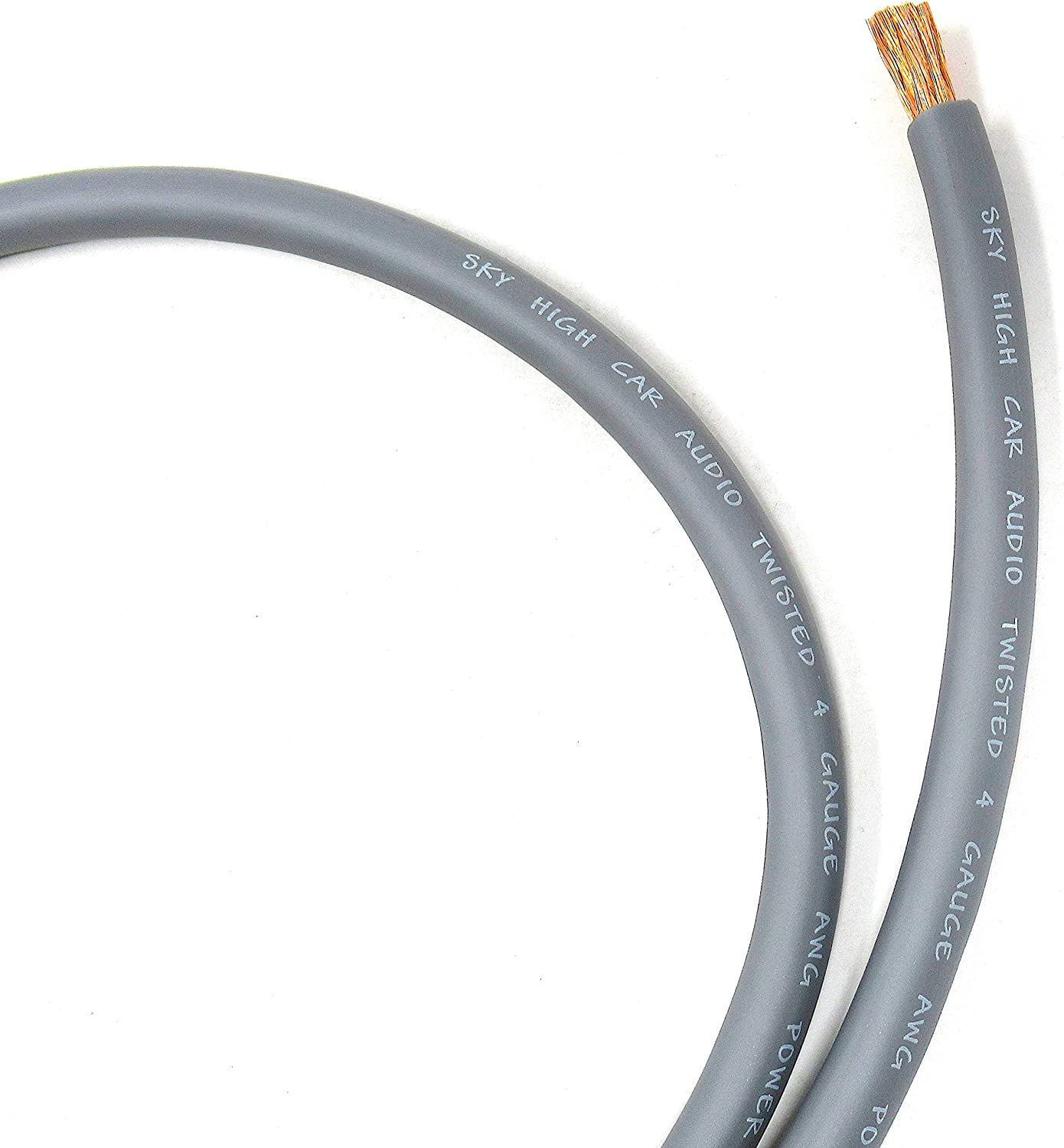 100 ft CCA 4 Gauge Oversized Silver Power Ground Wire Sky High Car Audio 81ewfOSjxoLSL1500_