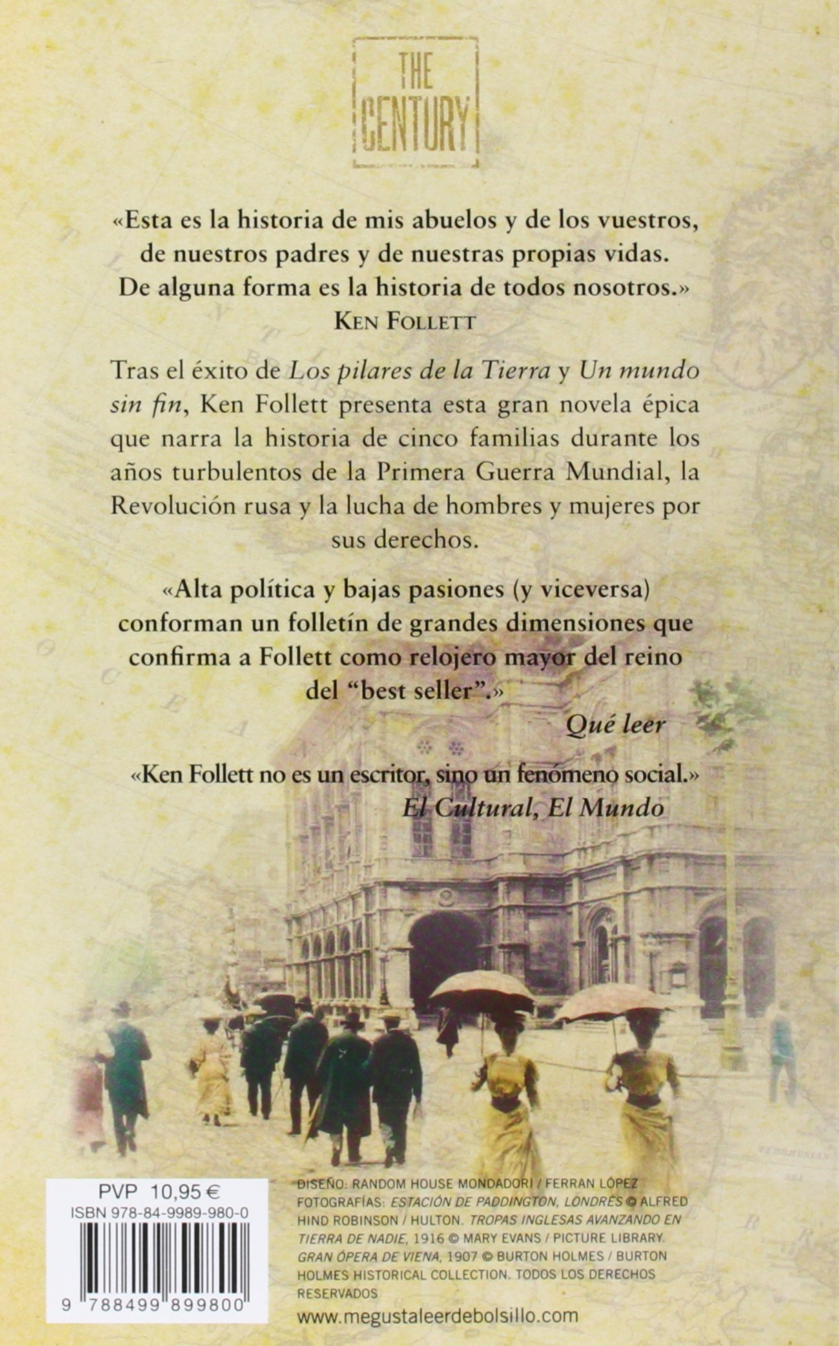 La caída de los gigantes (The Century 1): Amazon.es: Ken Follett, Anuvela;:  Libros