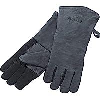 RÖSLE 25031 Barbecuehandschoenen, hoogwaardige leren handschoenen ter bescherming tegen brandwonden, leer, universele…