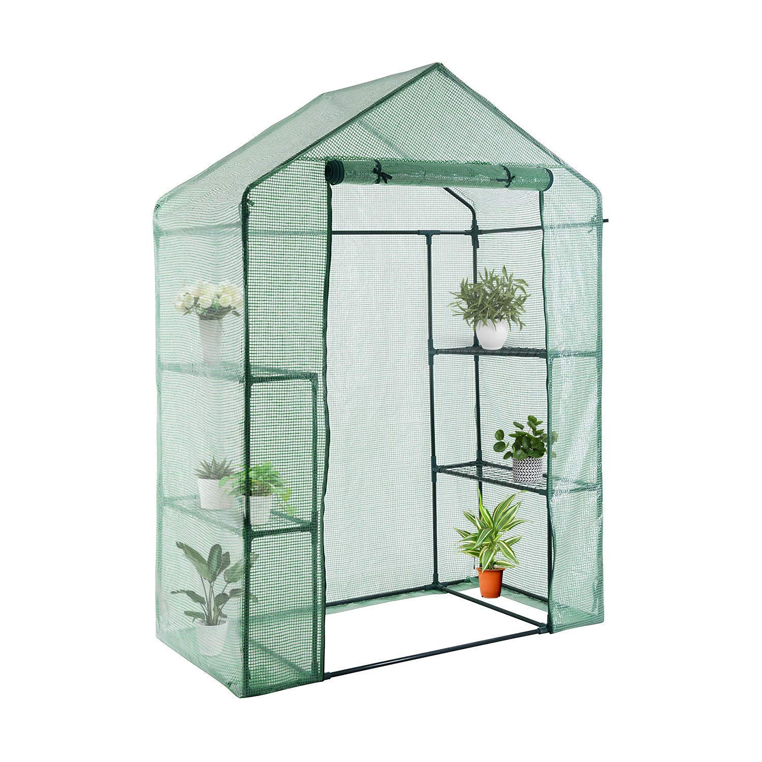 YOUKE Walk-in Greenhouse PE Cloth Cover Garden House Succulent Plants Flowers Green Plant Insulation Family (56''x28''x77'')