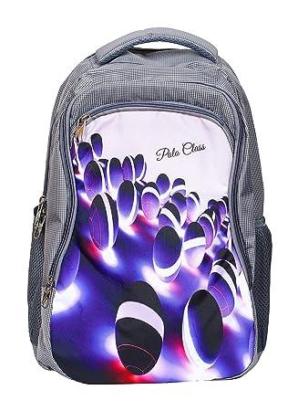 a819c1094621 POLO CLASS Fabric 25 Liters Grey School Bag (BNB-PC25)  Amazon.in  Bags