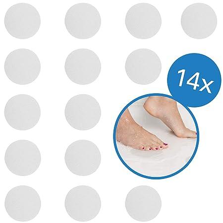 BAMONDO - Premium Antirutsch Aufkleber für Duschen und Badewannen, EXTRA GROß XXL rund 10 cm (ø), transparent, selbstklebend