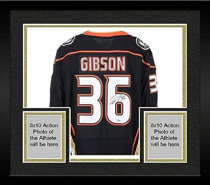 Framed John Gibson Anaheim Ducks Autographed Black Fanatics Breakaway Jersey  - Fanatics Authentic Certified d5026cd4a