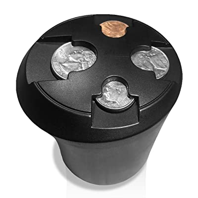 T1A Cup Holder Change Organizer - Coin Sorting Cupholder for Cars & Trucks | Sorts Quarters, Dimes, Nickels and Pennies | Sort and Organize Your Loose Change, Easy Access and No More Mess: Automotive