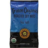 Truson Organics Dry Roasted Soy Nuts Sea Salt, 1-Ounce Bags (Pack of 24)