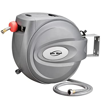RAINWAVE RW AR5880 Retractable Swivel Wall Mounted Hose Reel Of 5/8u0026quot;  ...