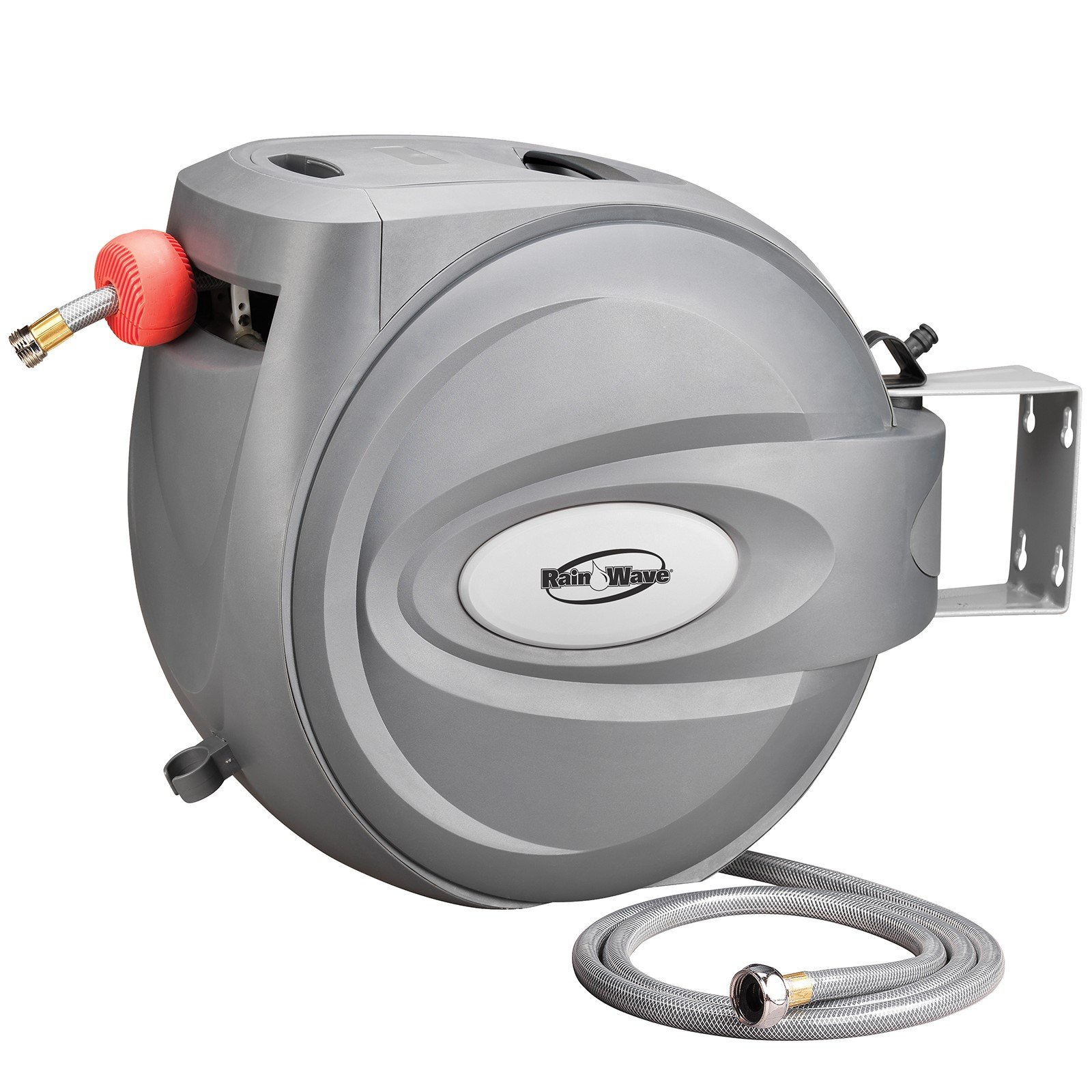 RAINWAVE RW-AR5880 Retractable Swivel Wall Mounted Hose Reel of 5/8'' x 80' by Rainwave