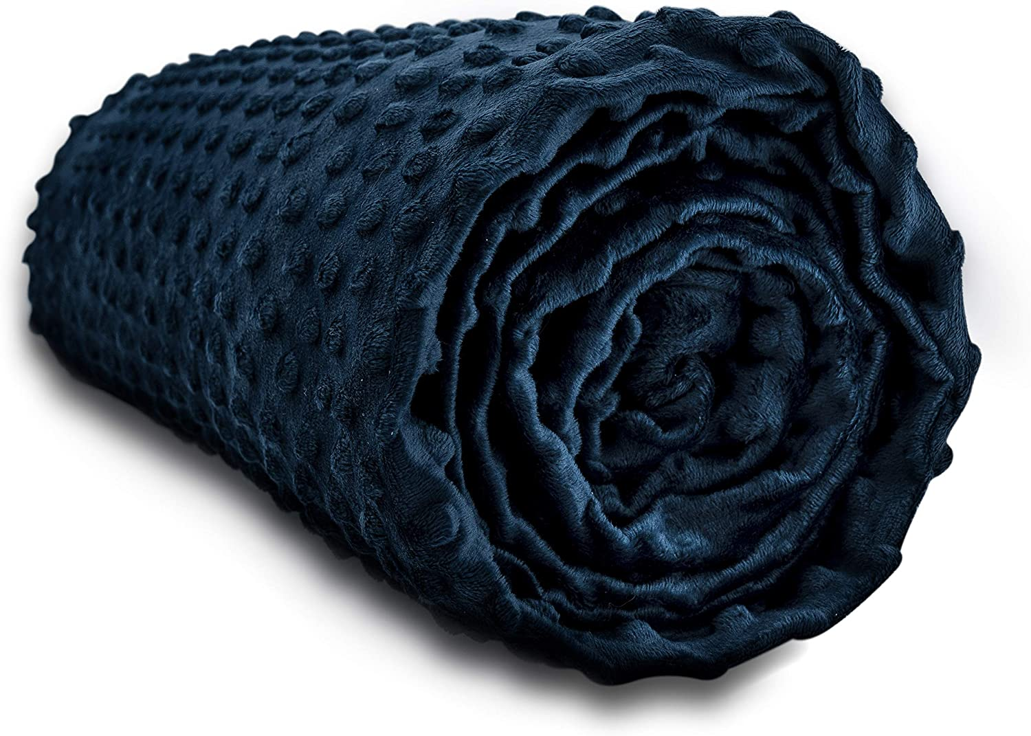 Cooshi Weighted Blanket Cover - 16 Ties - Soft and Machine Washable (Navy, 48 x 72)