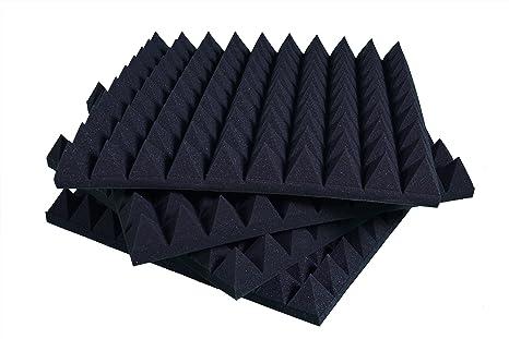 Pannelli Fonoassorbenti Piramidali Correzione Acustica 50x50x6 D30