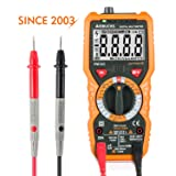 Multimeter Janisa PM18C Digital AC DC Voltage Current Resistance Tester True RMS 6000 Counts Non Contact Voltage Test Temperature Measurement Amp Ohm Volt Multi Tester with LCD Backlit for Electrical Appliance , Vehicle and Power Line Inspection & Repair