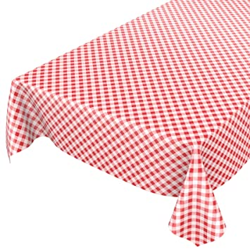 Wachstuch abwaschbare Tischdecke Wachstischdecke Gartentischdecke Karo Rot