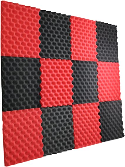 New Level 12 Pack All Burgundy Acoustic Panels Studio Foam Egg Crate 1 X 12 X 12