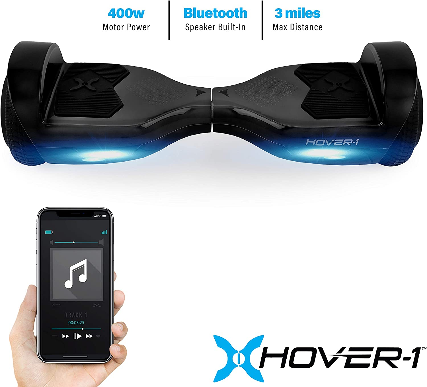 Amazon.com: Hover-1 Helix Electric Hoverboard Scooter, Black ...