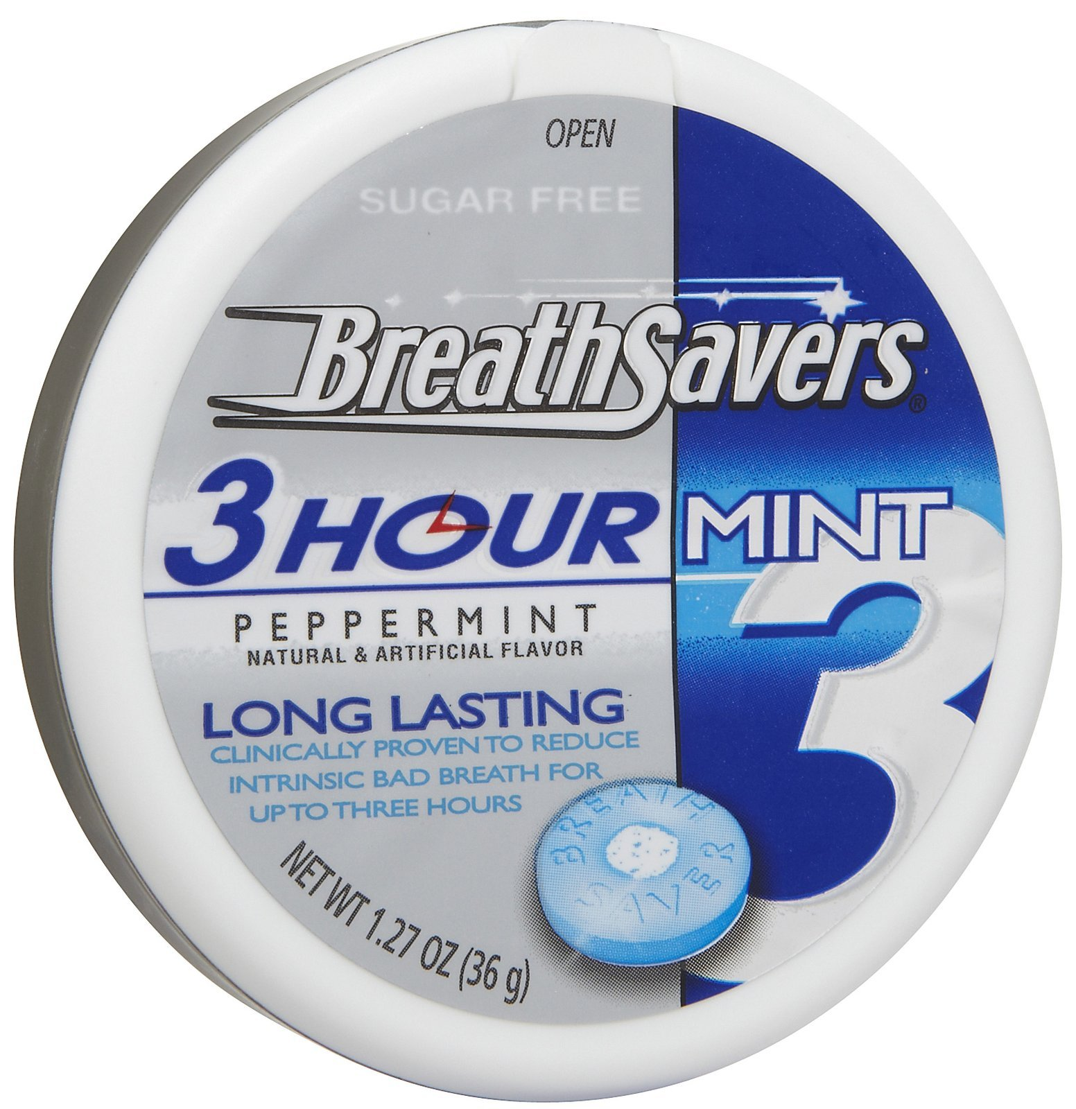BreathSavers 3-Hour Peppermint, 1.27 oz, 8 ct by Breath Savers