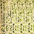 KASZOO - Guirnalda de hiedra artificial de 84 pies, 12 unidades, guirnalda colgante de vid con 80 luces LED, colgante para el