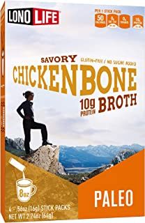 product image for LonoLife Chicken Bone Broth Powder with 10g Protein, Stick Packs, 4 Count